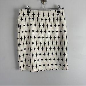 Renee C. Stitchfix geo print mini pencil skirt